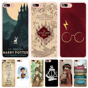 Marauders Map Harry Potter DEATHLY HALLOW QOUTES phone Cover case for iphone 6 4 4s 5 5s SE 5c 6s plus case for iphone 7