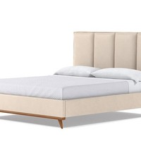 Carter Upholstered Bed VEGAN LEATHER