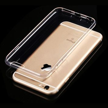 DCCKL72 Transparent Clear Soft Silica Gel TPU Case Silicone Cover for iPhone 6 iPhone6 Plus iPhone 7 Ultra Thin Mobile Phone Case