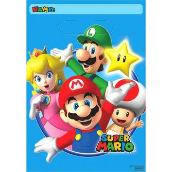 Super Mario Brothers Party Favor Bags