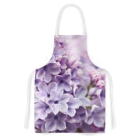 "Sylvia Cook ""Lilac"" Purple Flowers Artistic Apron"
