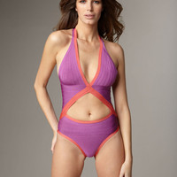 Women Bikini 2016 High Waisted Swimwear Sexy Purple Open Back Bandage Swimming Suit for a Summer Beach