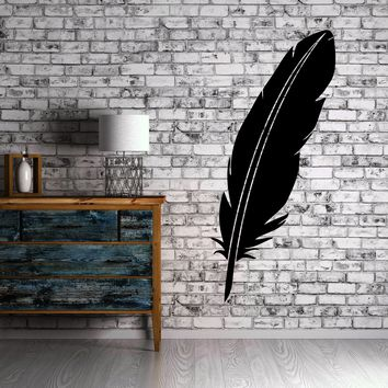 Feather Old School Writing Utensil Decor Wall Mural Vinyl Art Decal Sticker Unique Gift M505