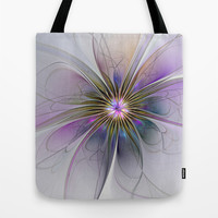 Abstract Flower, Fractals Art Tote Bag by Gabiw Art