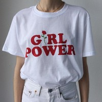 T Shirt Feminism Tee Shirt Girl Power Unisex Cotton T-shirt