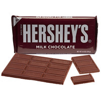 Hershey's Milk Chocolate 4.4-Ounce Jumbo Candy Bars: 12-Piece Box
