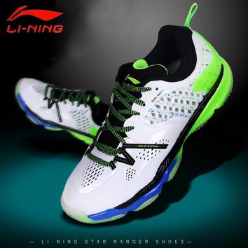 Li-Ning Men Ranger Professional Badminton Shoes High Cut Cushion BOUNSE+ LiNing Sports Shoes Sneakers  AYAM009