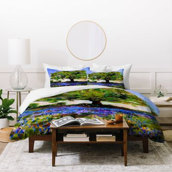 Ginette Fine Art Texas Hill Country Bluebonnets Duvet Cover