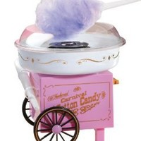 Nostalgia Electrics CCM-905 Vintage Collection Old Fashioned Carnival Hard and Sugar-Free Cotton Candy Maker