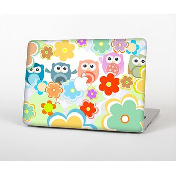 The Fun-Colored Cartoon Owls Skin for the Apple MacBook Air 13""