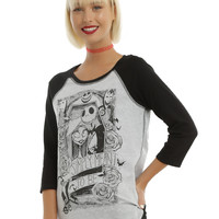The Nightmare Before Christmas Simply Meant To Be Girls Reversible Raglan