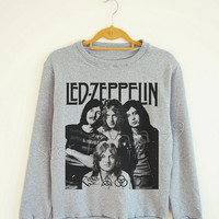 Led Zeppelin TShirt Hard Rock TShirt Heavy Metal Rock Sweater Sweatshirt Jumpers Shirt Long Sleeve Shirt Women Shirt Unisex Shirt SizeS,M,L