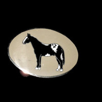 Vintage Horse Belt Buckle, Enameled Buckle, Collectible Buckle, Western Wear, Horse Buckle, Western Buckle, Cowgirl Buckle, Vintage