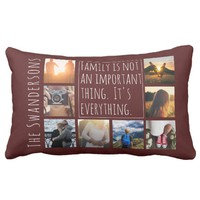 Personalized Eight Frame Quote Lumbar Pillow