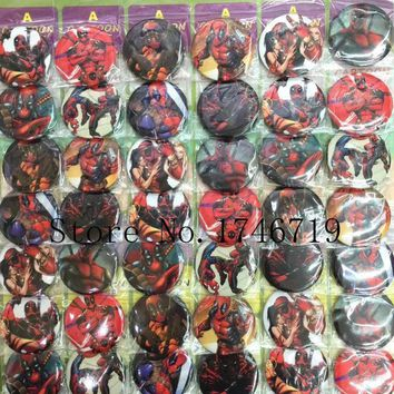 Deadpool Dead pool Taco Hot Sale 48 pcs/set Popular Cartoon  Badges 4.5cm  Cartoon Brooch Button Badge Pin,Kids Party Gift X-8 AT_70_6