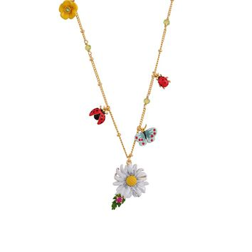 Les Néréides Bucolic Multi Charm Long Necklace