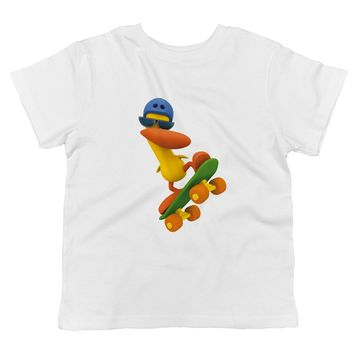 Pocoyo - Pato Skateboarding Toddler 100% Cotton T-shirt