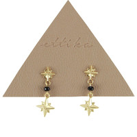 Glitterati Earrings in Black and Gold