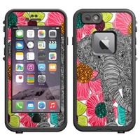 Skin Decal for LifeProof iPhone 6 Case - Elephant In Groveland