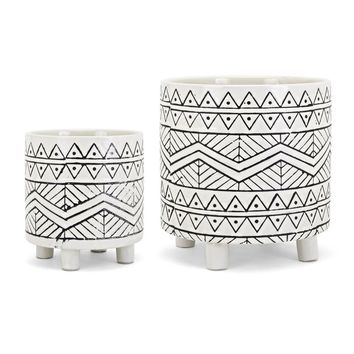 Fasching 2-Piece Pot Planter Set