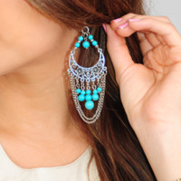 Glory Days Earrings: Silver/Blue | Hope's