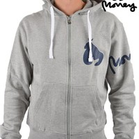 MONEY CLOTHINGSIG APE SLEEVE ZIP HOODIE - GREY