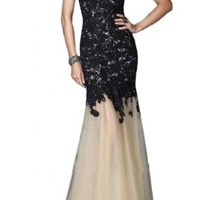 Sunvary Fancy Mermaid Lace Prom Dress Pageant Dress for Evening Long - US Size 8- Black