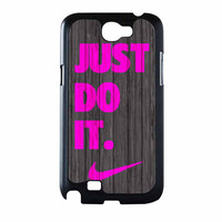 Nike Just Do It Wood Colored Darkwood Wooden Pink Samsung Galaxy Note 2 Case