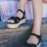 Cloud Nine Black Platform Espadrilles