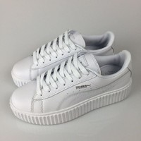 Puma Fenty by Rihanna White Silver Creepers Men's Women's Leather Shoes