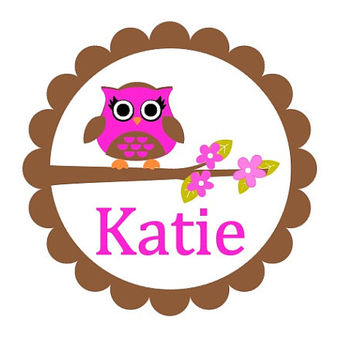 Girls Wall decal, Owl, Personalized nursery owl wall decal, Children's wall decal, Baby Name