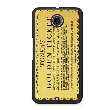 Willy Wonka Golden Ticket Nexus 6 case