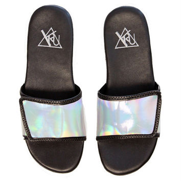 NILE Holographic Slide Sandal
