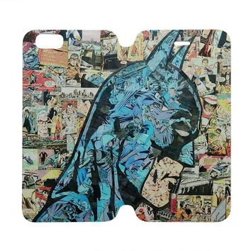 batman collage comic wallet case for iphone 4 4s 5 5s se 5c 6 6s plus samsung galaxy s4 s5 s6 edge note 3 4 5  number 2