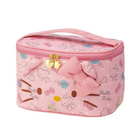 New 2017 High Quality Fashion Cartoon Designer Hello Kitty Toiletry Wash Pouch Travel Makeup Organizer Cosmetic Bag