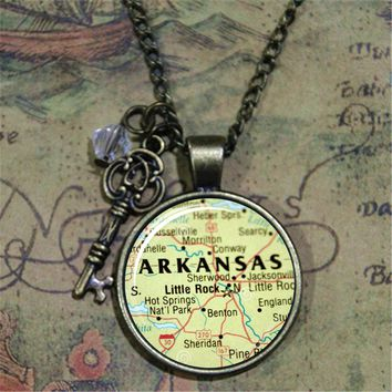 Map of Arkansas Necklace and State Pendant