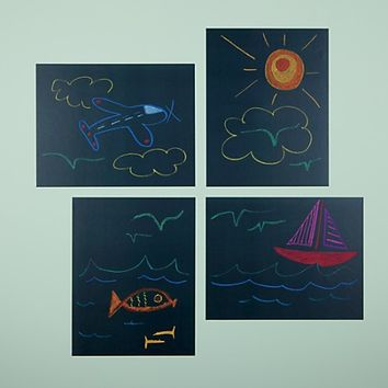 Chalkboard It Up Wall Decals (Set of 4) in Bulletin & Magnet Boards | The Land of Nod