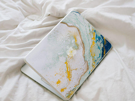 Glitter Agate Macbook Decal Blue From Laurenbydesign On