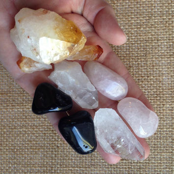Stone Collection Crystal Set Beginners Collection Crystal Kit healing crystals and stones raw  Crystal Collection tumbled stones
