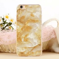 Beautiful Marble Stone Protect iPhone 5s 6 6s Plus Case + Gift Box-131-170928