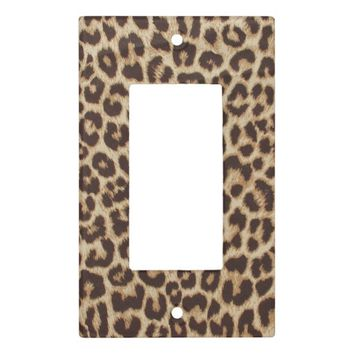 Leopard Print Switch Plate Cover