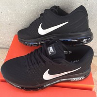 NIKE AirMax Popular Women Men Casual Sports Air Cushion Running Shoes Sneakers Black I