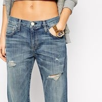 Current Elliott Super Loved Boyfriend Jeans With Distressing
