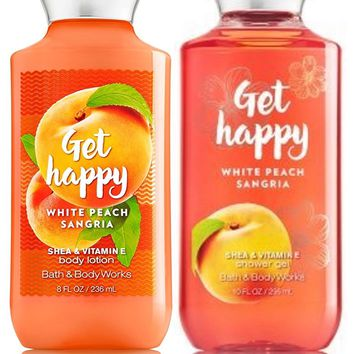 2 SET Bath & Body Works GET HAPPY  Body Lotion / Shower Gel