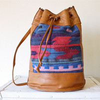 tribal blanket bag southwest carpet bag