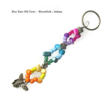 Insect Rainbow Hand beaded Keychain   - Item # 20150018