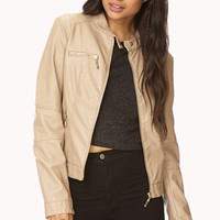 Iconic Faux Leather Jacket