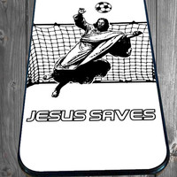 Jesus Saves Soccer for iPhone 4/4s/5/5S/5C/6, Samsung S3/S4/S5 Unique Case *95*