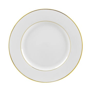 13/4L x 1H Gold Double Line Dinner Plate/Case Of 24