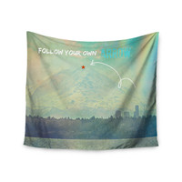 "Robin Dickinson ""Follow Your Own Arrow"" City Landscape Wall Tapestry"